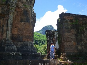 Me in the ruins, I am wearing actual pants, not pj bottoms in case you are wondering (they cost $1.50).