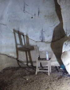 A ghostly chair...