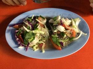 Spicy Adaman seafood salad..