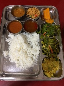 Some veggie food from the Little India area-South Indian Thali Set