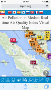 This was the air quality the day we arrived.