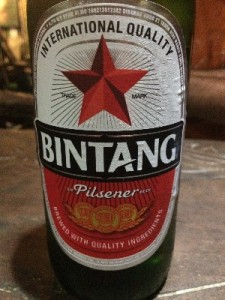 Gav also grabbed a Bintang, it was ok, nothing exciting (we are missing the beer in Laos).