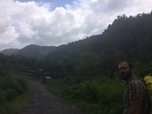 The walk back around the base of the mountain passed by some farms.