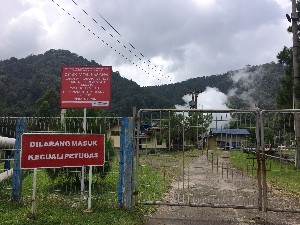 Turned out to be a geothermal power station.