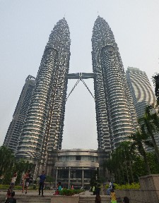 Petronas towers... they are beyond huge.