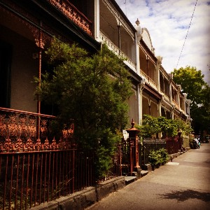 A side street near the Victoria Market