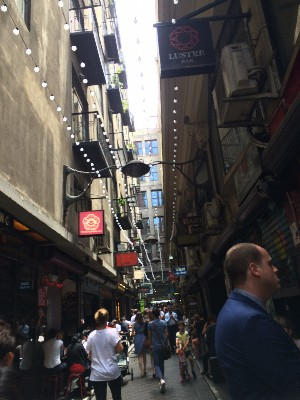 """Lane of tasties""- its actually on our map as that! Had a quick coffee in a place called Madamimadam"