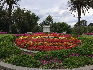 Floral Clock in the Queen Victoria Gardens