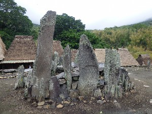 All of the villages have these sacred stones.