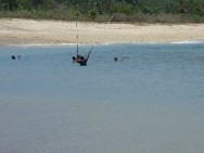 Fishing at Areguling Beach