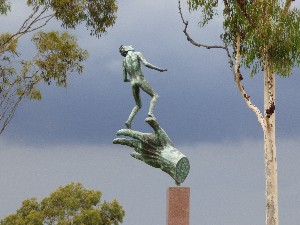 A piece of sculpture in the King's Domain