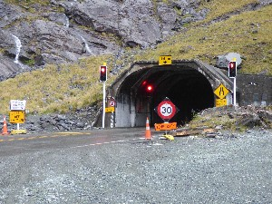 Homer Tunnel exit (from the Milford side)
