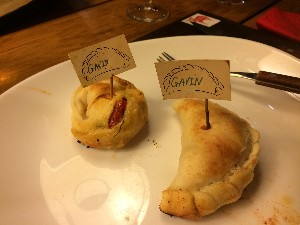Our empanadas were ready, looking good.