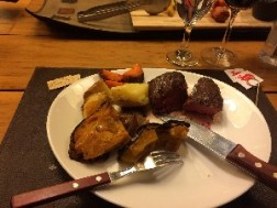 So this was my steak- we had drunk so much wine at this stage (now well onto the second red) that I almost forgot to take a photo...