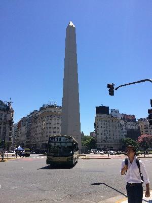 The obelisk at Plaza de la República