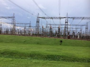 Paraguay and Brazil are on different frequencies and the dam supplies 75% of the power for Paraguay and 17% for Brazil. The production is split equally and any excess from Paraguay is sold to Brazil