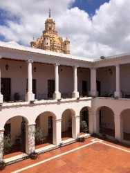 The courtyard of the Cabildo Historico (Historic Town Hall)