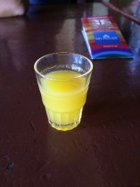 Singani- Bolivia's national drink in cocktail form (this was similar to a Pisco sour)